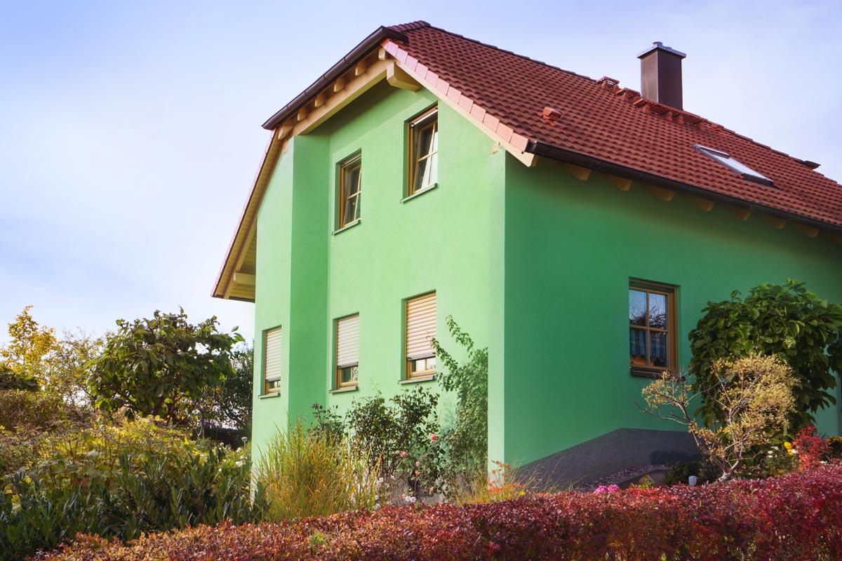Fassadengestaltung einfamilienhaus grün  Fassaden – Malerbetrieb Krannich Ilmenau